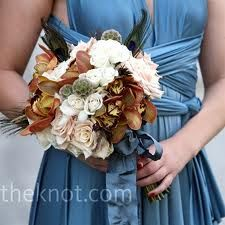 Possible color palette? Blues like this at the lightest, and several shades darker as well, and those neutrals to go with my dress, maybe metallic old gold and old silver/pewter-type accessories? I think it would set off henna well.