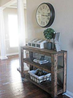 Wie dreistöckige Holzkonsole kann leicht DIY für Ihren Eingang