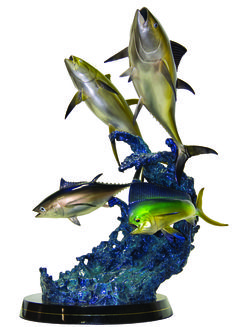 West Coast Grand Slam Sculpture from Wyland Galleries of Key West http://wylandkw.com/galleries/