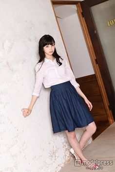 Japanese Beauty, Asian Beauty, My Hime, Japanese Models, Pretty Woman, Fashion Photo, Midi Skirt, High Waisted Skirt, Lady