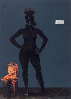Bride of Frankenstein, 2009  Acrylic on pvc  85 x 61 inches  kerry james marshall
