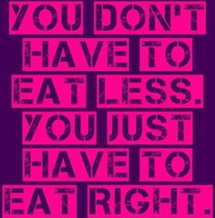 I promise you don't have to eat less when clean eating, you just have to eat right! :-) #cleaneating #menu #recipes