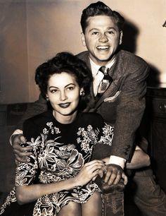 Ava Gardner, Mickey Rooney, 1942