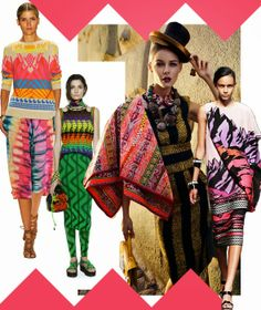 TRIBAL MIXING     Mix and match tribal inspired prints from Missoni, Mara Hoffman and others.