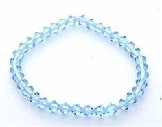 Lymphedema Awareness Light Blue Genuine Swarovski Crystal Bracelet SilverSpeck.com. $6.99