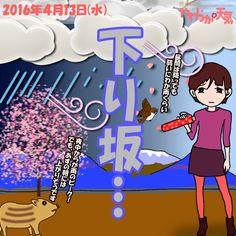 きょう(13日)の天気は「曇りがち→夜は本降りの雨」。雲の多い空模様で、時おり通り雨も。南風も強めに吹いて、夕方頃から次第に本降りの雨に。夜中には雨脚が強まりそう。日中の最高気温はきのうより若干低めで、飯田で17度の予想。
