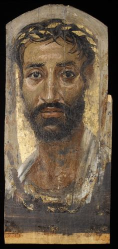Mummy mask portraits produced in Egypt during the Roman period.