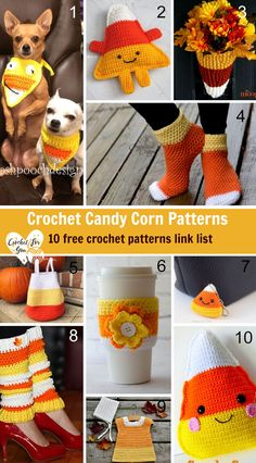 These crochet candy corn patterns are sweat as real candy corn. Here is the link list 109 with 10 Free Crochet Candy Corn Patterns. Crochet Gratis, Cute Crochet, Easy Crochet, Crochet Toys, Knit Crochet, Crochet Baby, Candy Corn, Knitting Projects, Crochet Projects