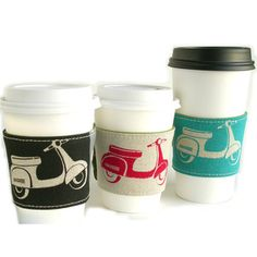 Scooter eco cup cozy by Laura Bucci