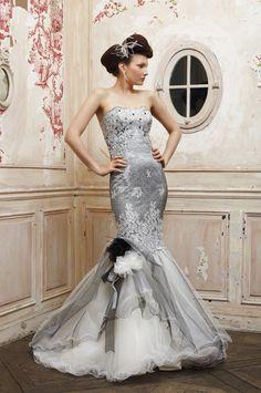 wedding dresses with rhinestones and pearls   dress and tulle trimmed with pearls and rhinestones : Eli Shay Wedding ...