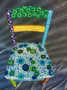 bright funky eclectic hand painted by danielleandgailachin on Etsy, via Etsy.