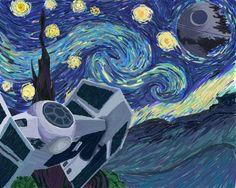 Vincent Van Gogh's Starry Night (versión Star Wars)