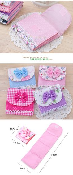 New Lovely Girlish Sanitary Napkins Pads Carrying Easy Bag Small Articles Gather Pouch Case Bag Dropshipping Paquet De Stockage Sewing Tutorials, Sewing Crafts, Sewing Projects, Sewing Patterns, Simple Bags, Easy Bag, Sanitary Napkin, Diy Sac, Pouch Tutorial