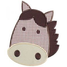 Applique Only :: Horse Head Applique
