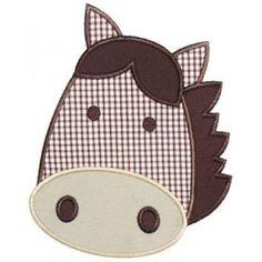 Applique Only :: Horse Head Applique