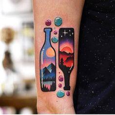 Wine love Artista Tatuador: David Côté