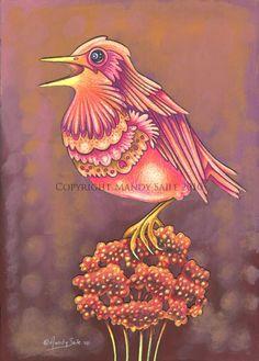 Beautiful Bird 13 PRINT by BijousWhimsy on Etsy