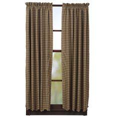"Barrington Lined Scalloped Short Curtain Panels 63"" x 36"""