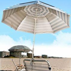 Frankford Umbrella Fiberglass Clamp Umbrella Pacific Blue Outside - CLP-PBO