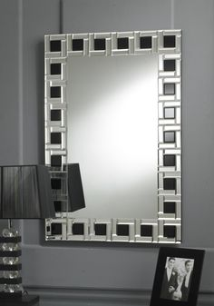 This Venetian mirror has clear Art Deco influences; it features a border made up… Mirror Mosaic, Mosaic Glass, Glass Art, Mirror Ornaments, Oversized Wall Art, Art Deco Mirror, Sunburst Mirror, Stained Glass Designs, Venetian Mirrors