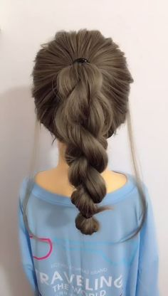 Very easy to learn beautiful and cute ponytail Beautiful Cute easy learn Ponytail zopf is part of Hair - Very easy to learn beautiful and cute ponytail Beautiful Cute easy learn Ponytail zopf Classic Hairstyles, Pretty Hairstyles, Easy Elegant Hairstyles, Easy Hairstyles For Work, Easy Ponytail Hairstyles, Braided Ponytail, Curly Ponytail, Hairstyles 2018, Waitress Hairstyles For Long Hair