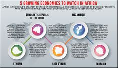 5 Growing Economies to Watch in Africa - Discover more about these countries and their strong potential for economic growth at http://www.ashaymervyn.co.uk/the-latest-trends-show-a-positive-economic-future-for-sub-saharan-africa/.