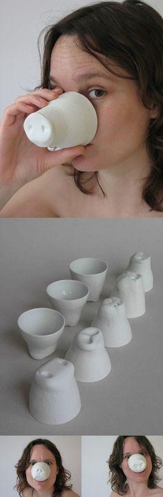 Snout Cups van Buro Jet zijn van die alledaagse gebruiksvoorwerpen die het leven stukken grappiger maken