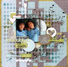 """""""Brothers"""" Layout by Alison Bevis DT Kaisercraft new June Collection 'Secret Garden' - Wendy Schultz ~ Scrapbook Pages Scrapbook Templates, Scrapbooking Layouts, Scrapbook Pages, Specialty Paper, General Crafts, Cool Eyes, Paper Flowers, Card Stock, Paper Crafts"""