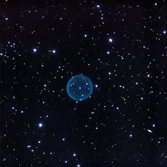 Planetary Nebula Abell 39 - in enhanced color. This is one of the most perfect planetary nebulae -- and with a diameter of 6 light years it's by any means the largest spherical object in our galaxy.