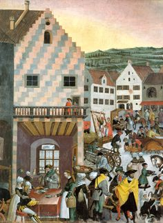 c. 1520s - Die Augsburger Monatsbilder (The Augsburg Mural) Herbst:Oktober