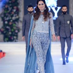 @cybiljchowdhry looking outstanding #PLBW2015Day3 wearing beautiful sparkling embroidered dress by @hassanhsy (HSY) who used soft soothing colors for his PLBW 2015 bridal collection  Make up by @nabila_salon ☺ #TheFashionFiest #PLBW2015 #soothingcolor #newcollection #HSY #lovingit #instafashion #instaupdate #instablogging #fashionblogger #me #staytune #formore #followus
