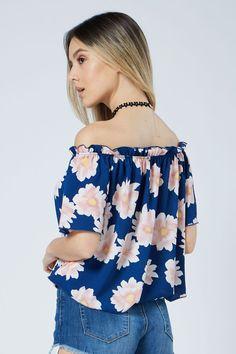 ffa687dd7aa06  1 Seller- Biggie Flower on Off the Shoulder Top.♛ Shop it at