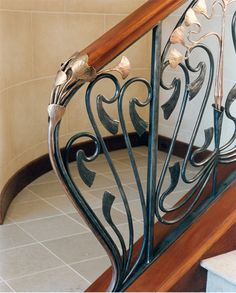 Love the metalwork for stairs.