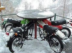 Check this out Bikers table
