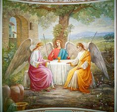 Solemnity of the Most Holy Trinity Angel Guide, Avatar The Last Airbender Art, Russian Painting, Byzantine Icons, Biblical Art, Angels Among Us, Angel Cards, Jesus Pictures, Guardian Angels
