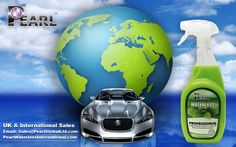 Shine consciously to help protect the planet we all live . . . Spray green to keep it clean with Pearl® Professional Waterless Auto Care Solution.