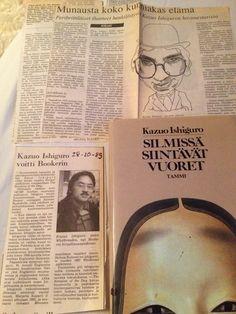 Kazuo Ishiguro Pitkän päivän ilta ja mukana yllättäen seuranneet lehtileikkeet #divarilöytö