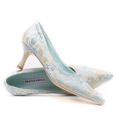 Something Blue Wedding Shoe