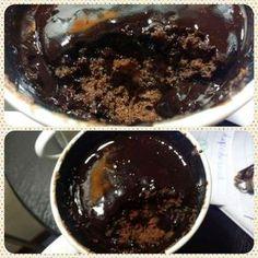 Bolo de caneca de chocolate diet e low carb