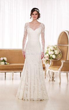 Sereia vestidos De casamento Vestido De Noiva Sereia romântico manga comprida Lace querida Backless vestidos De Noiva Qo3476 em Vestidos de noiva de Casamentos e Eventos no AliExpress.com | Alibaba Group