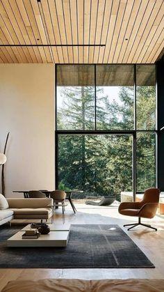 Modern House Design, Modern Interior Design, Interior Design Inspiration, Interior Design Living Room, Living Room Designs, Interior Architecture, Design Bedroom, Japanese Modern Interior, Natural Modern Interior