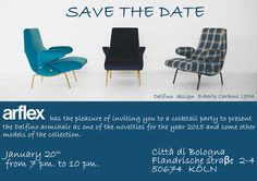 arflex - SAVE THE DATE January 20th from 7pm to 10 pm cocktail party Città di Bologna Koeln #arflex #savethedate Citta di Bologna #cocktailparty