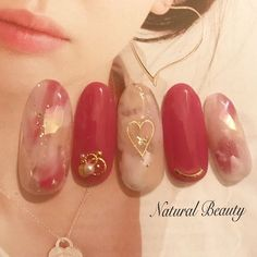 , Excellent Screen japanese Nail Art Red Concepts Finger nails made use of to retu. , Excellent Screen japanese Nail Art Red Concepts Finger nails made use of to return around about three colours. Reddish colored, purple … in 2020 Japanese Nail Design, Japanese Nail Art, Gem Nail Designs, Cute Nail Designs, Nail Swag, Gem Nails, Hair And Nails, Bling Nails, Elegant Nail Art