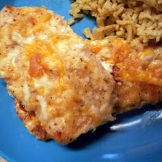 Sour cream, Parmesan, and Italian bread crumbs make this chicken really tasty.