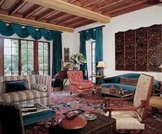 California home in the mid-1990s, Toby Lambert was shown a house in Montecito designed by George Washington Smith, who, during a career that lasted from 1916 to 1930, established himself as a dominant figure in West Coast domestic architecture. Originally built in the Spanish Colonial Revival style. Beautiful leather trunk