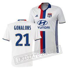 Nouveau Maillot Gonalons 21 Olympique Lyon Homme Blanc 2016 2017 Domicile :  Ligue 1