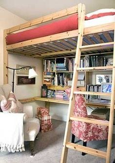 Loft with Desk Underneath | Reader home – 'Our house
