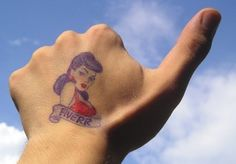 I will draw your logo and write your message on my hand and give you thumbs up