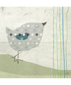 Tableaux chambre d'enfant et bébé : L'oiseau à  pois