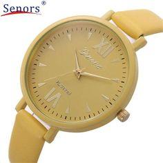 HF2016Women Leisure Time Fine Watch strap Leather Analog Simple Clock Dial Wrist Watch Gift relogio masculino Uhren Z522 5Down